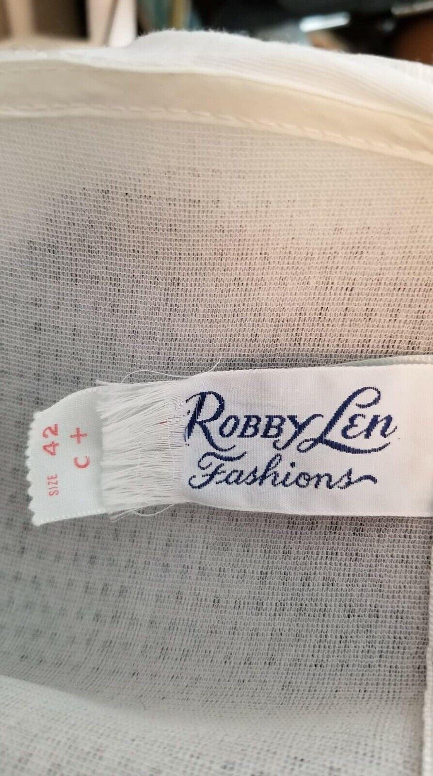 70's Robby Len Navy & White swim dress. XXL - image 4