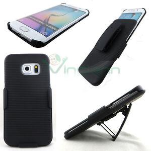 Cover-Sliding-Stand-NERA-per-Samsung-Galaxy-S6-Edge-G925F-clip-cintura-custodia