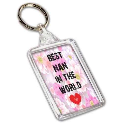 Nan Gift Mother/'s Day Birthday Gift Best Nan In The World Keyring
