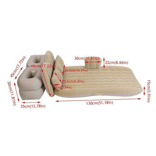 Double//Single Sleep Camping Airbed Inflatable Mattress Blow Up Air Bed Cushion