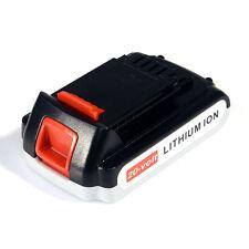 20V Max 2.0Ah Lithium-Ion Battery for Black & Decker 20Volt LB20 LBX20 LBXR20
