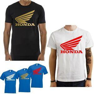 T-Shirt-Honda-Moto-gp-maglia-maglietta-Logo-cotone-nera-bianca-blu