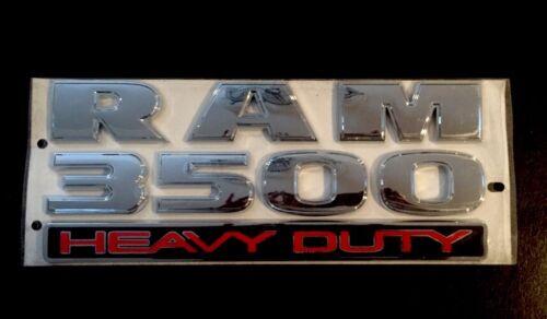 "SIZE RAM 3500 HEAVY DUTY EMBLEM Badge Nameplate OEM 12/""X5/"""