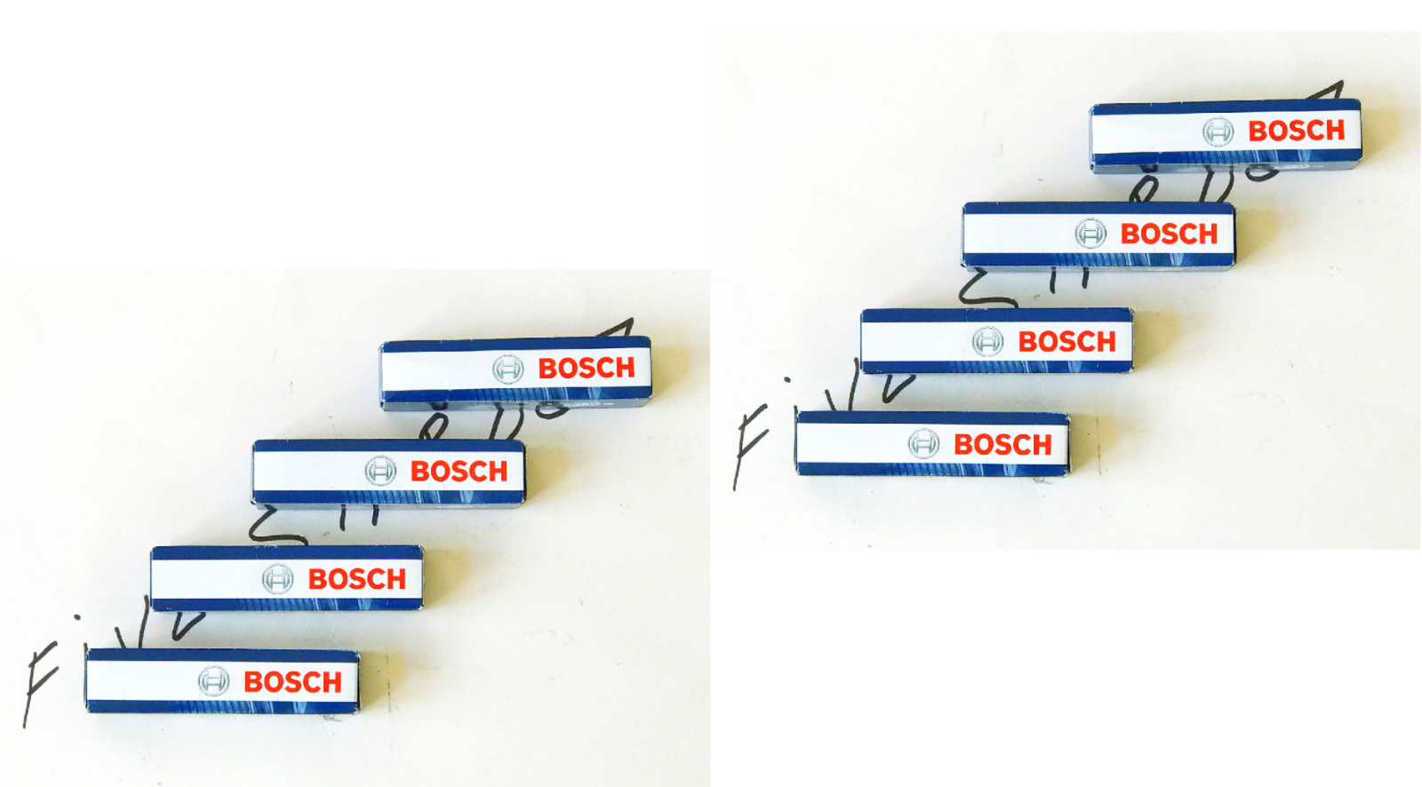 8 BOSCH Ignition Coil Pack Set 8 Spark Plug Kit for BMW 2004-2010 x5 4.8i 4.8is