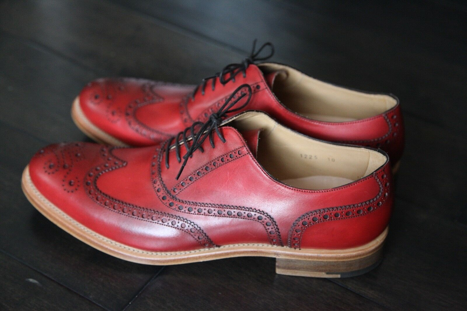 O'KEEFFE Milo - Wingtip Brogues -red - NEW in BOX - as seen on Mr Porter