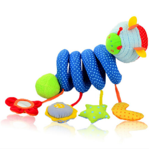 Blue Insect Cute Infant Babyplay Baby Toys Activity Spiral Bed Stroller Toys DS