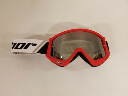Thor Combat Red Goggles /& Mirror Lens Motorcycle Racing ATV Offroad MX Motocross