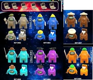 SET 8 AMONG US Funny Game Character Mini Figures Lego MOC impostor Toy Gift Kid