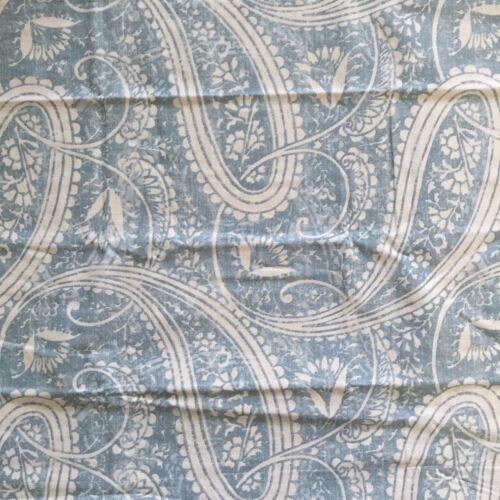 POTTERY BARN finley paisley DUVET COVER shams Queen blue