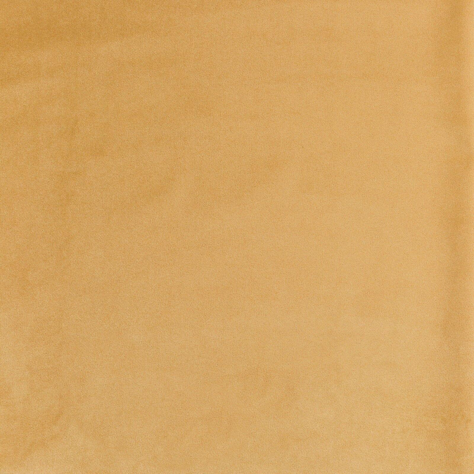 McAlister textiles CLASSIC MATT velours ocre jaune souple de luxe paire de rideaux