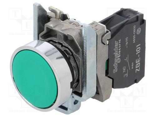 Schneider XB4 22mm pulsante momentaneo 1NO VERDE XB4BA31