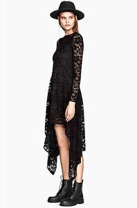 Vestito-Pizzo-Maniche-Lunghe-Donna-Nero-Woman-Lace-Dress-Black-110047