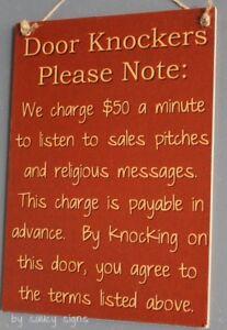 Door-Knockers-Sign-Wooden-Door-Entry-Bar-No-Soliciting-Workshop-Welcome