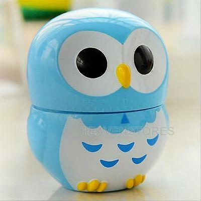 Home Decoration Cartoon Owl Kitchen Timers 60 Minutes Cooking Mechanical Timer
