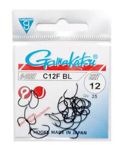 Gamakatsu C12 F  BL #14,12,10 barbless Nymphe Emerger Pupa Haken Japan