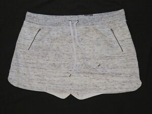 New-Avenue-Woman-Comfy-Sweat-Skort-Light-Gray-Built-in-Shorts-Plus-Size-26-28