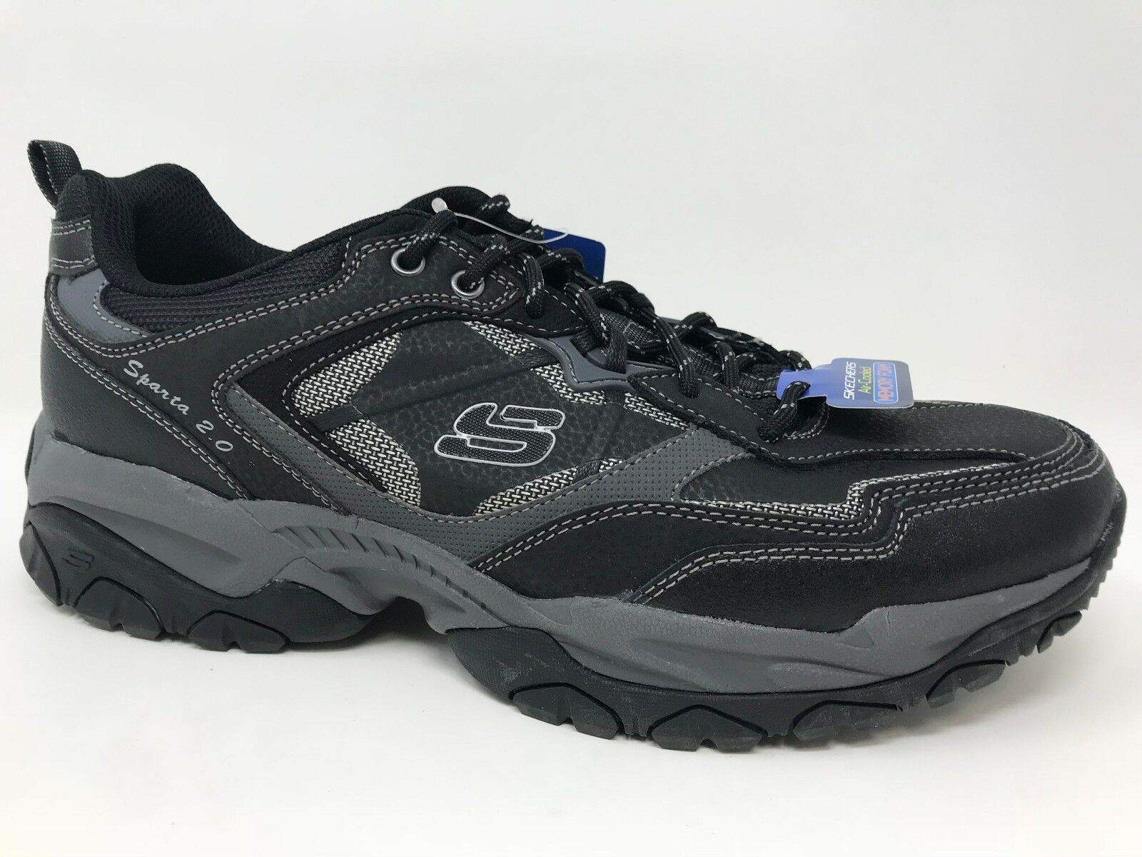 New  Men's Skechers 52700 Sparta 2.0 TR Athletic Training shoes Black Char E1