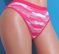 Pink White Striped Tiger Low Cut Sissy Bikini Panties Sz M