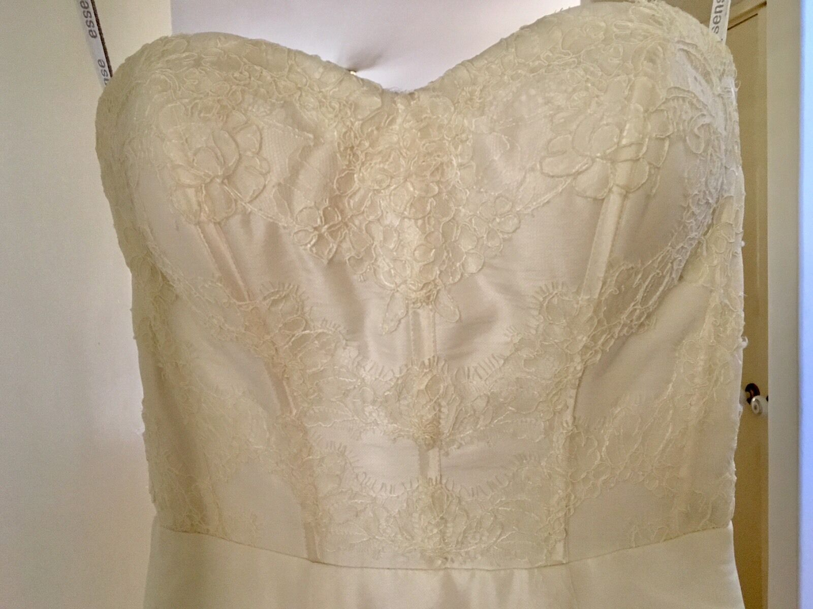 Plain Ivory Lace Wedding Gown Dress A Line US6