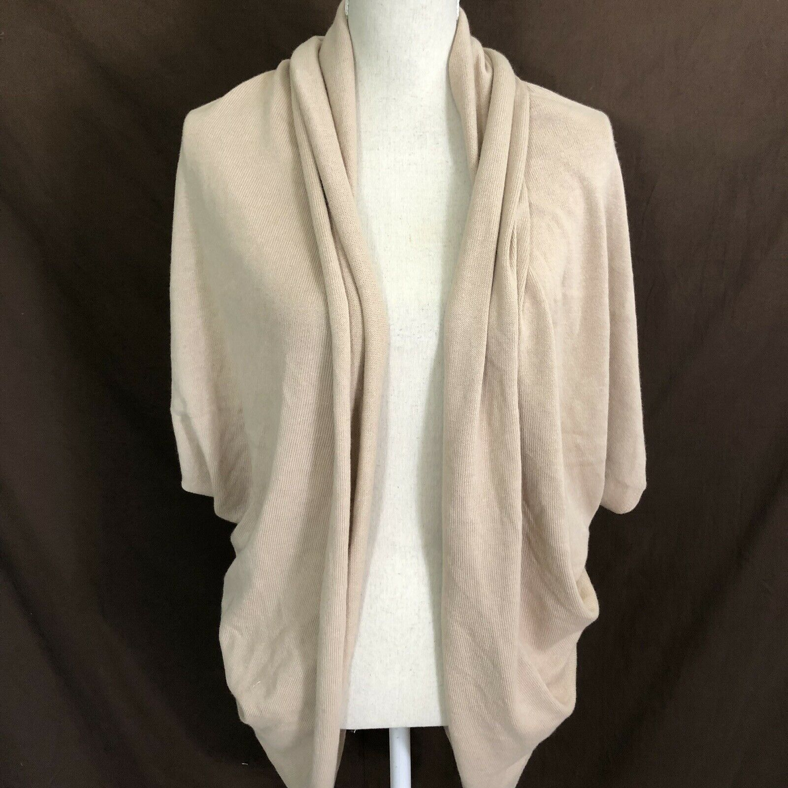 Beryll Cashmere Cotton Open Front Cardigan Soft One One One Size Beige 366a43