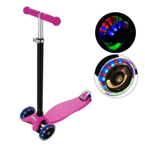 Kinderroller Kinder Scooter Tretroller Cityroller Verstellbar mit 3 LED Rädern