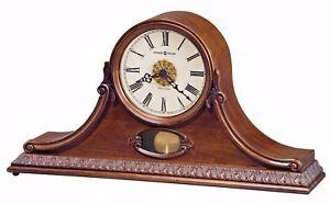 Howard-Miller-635-144-Andrea-Traditional-Cherry-Mantel-Clock-with-Pendulum