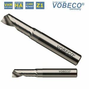 Vobeco VHM einzahnfräser alufräser también para madera/MDF plástico