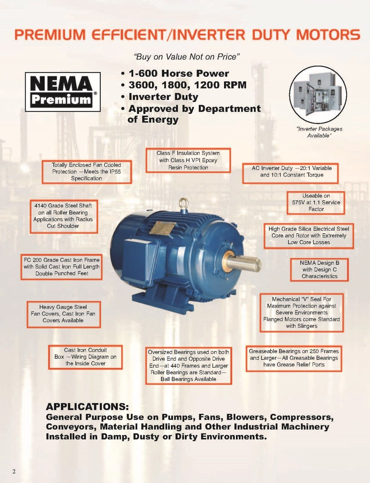 60 Hp Electric Motor 364ts 3600 Rpm 3 Phase Premium Efficient Severe Wiring Meter Diagram Appalachian Power Norton Secured Powered By Verisign
