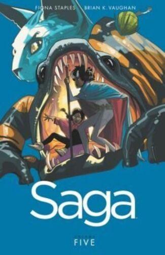 1 of 1 - Saga Volume 5 by Brian K. Vaughan (Paperback, 2015)