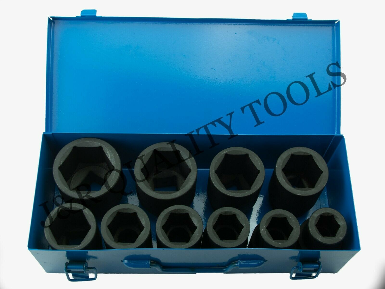 deep j-rqualitytools2011 10 PC 1 ONE INCH DRIVE DR LARGE SIZE AIR BLACK IMPACT SOCKET WRENCH TOOL SET MM