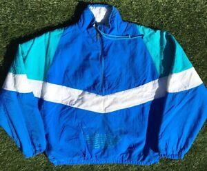 7becc2a2f Vintage Adidas Jacket Trefoil Men's L Puffer 80s 90s Color Block ...