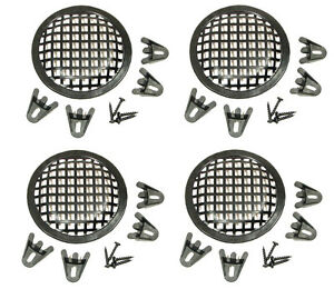 "4 Pack Procraft 5"" Speaker Grill With Mounting Hardware for 5""  Woofers   PG05"