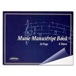 A5 Music Manuscript Book Soft Cover Notbook - 24pg 6Stave