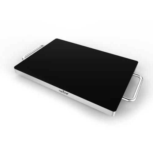 Electric Warming Plateau//Food Warmer with non-Stick en verre résistant à la Chaleur Plaque