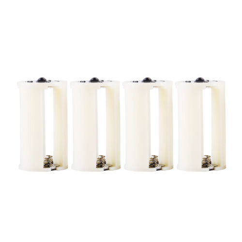 AA to Size D Battery Adapters Converter Cases Plastic Parallel White 8 Pcs