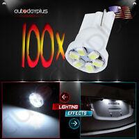 100pcs 6 3020-smd Led T10 194 168 Side Wedge Turn Car Light Bulb Warm White 12v on sale