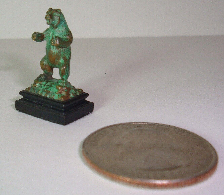 Daniel Phillip Kronberg Casa de Muñecas en Miniatura Escultura de Bronce Oso Pardo 1 12th