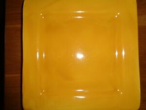 Tabletops Gallery Butter Square Dinner Plates, Set of 4, EUC