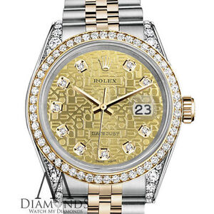 ef6d47268740 Ladies Diamond Rolex Stainless Steel   18K 26mm Datejust Champagne ...