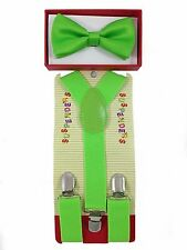 Toddler Kids Boys Girls Baby Suspenders and Bow Tie Matching Set Wedding