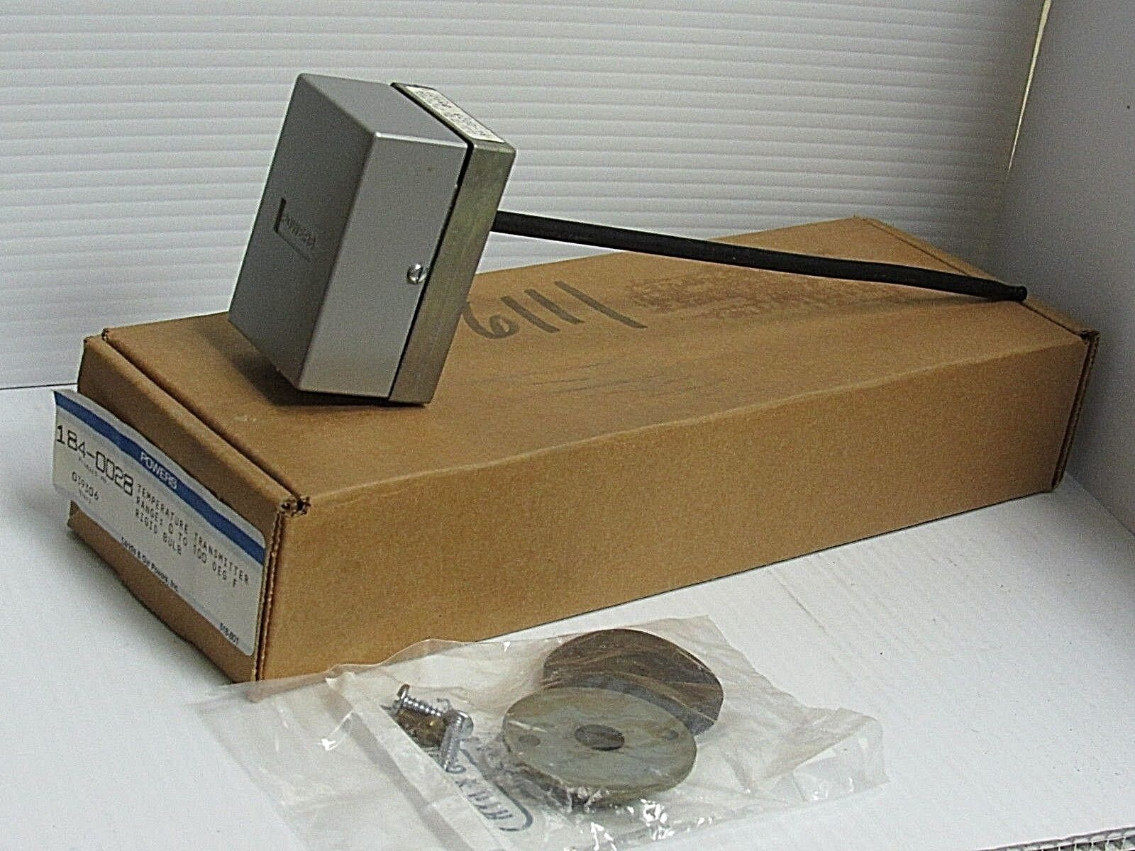 NEW POWERS TEMPERATURE TRANSMITTER 184-0028 1840028 0-100°F