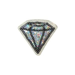 Sequin-Silver-Diamond-Iron-On-Embroidery-Applique-Patch-Sew-Iron-Badge