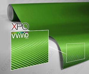 Lime Green Gloss 20ft x 5ft car vehicle vinyl wrap VViViD XPO cast film sticker