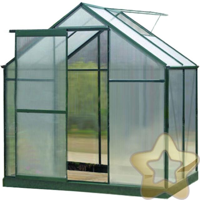 4 Sizes Greenhouse Aluminium PolyCarbonate Free Base Green Rust Proof UV Safe
