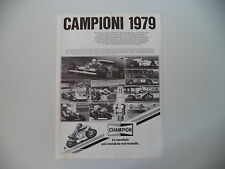 advertising Pubblicità 1980 CHAMPION e JODY SCHECKTER/PATRICK PONS/ANGEL NIETO