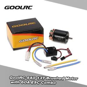 GoolRC-540-13T-Brushed-Motor-w-60A-ESC-for-1-10-Traxxas-Ford-F-150-RC-Car-N3A9