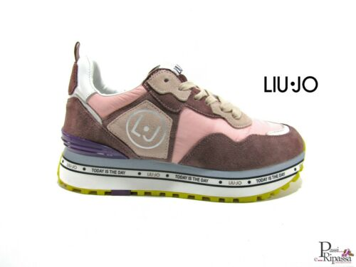 Scarpe donna sneakers Liu Jo Maxi Alexa invernali in camoscio tessuto sportive