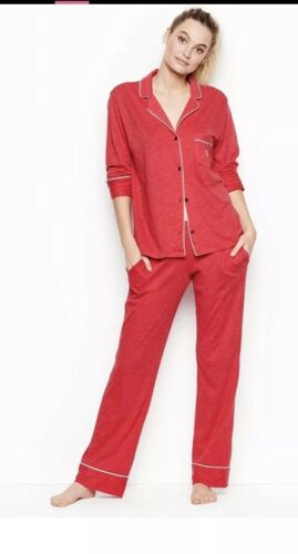 Valentine The Sleepover Med Victoria's Nwt Pigiama Secret Knit Red Set FOqFPTvw