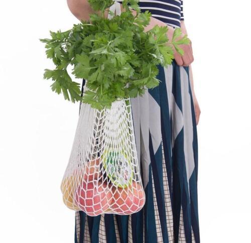 hot Pink Grocery Cotton Mesh Black blue Net Shoulder red white Reusable C Bags Shopper Woven Fruit pink String Tote 4Rq3Aj5L