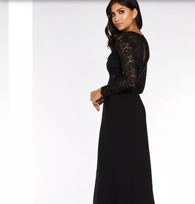 Quiz Lace Sequin Cap Sleeve Maxi Dress Size 14 Navy Uk Freepost For Sale Online Ebay